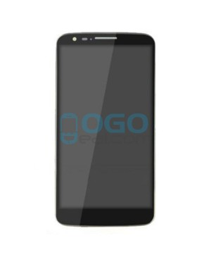 LCD & Digitizer Touch Screen Assembly With Frame for LG G2 D801 T-Mobile - Black