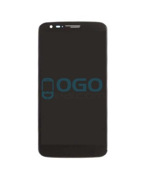 LCD & Digitizer Touch Screen Assembly With Frame for LG G2 D802 - Black