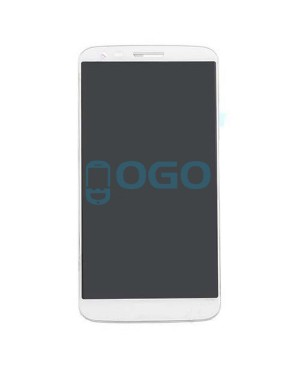 LCD & Digitizer Touch Screen Assembly With Frame for LG G2 D802 - White