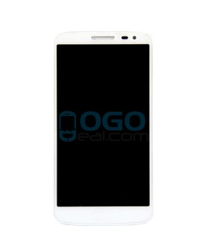 OEM LCD & Digitizer Touch Screen Assembly With Frame for lg G2 Mini - White