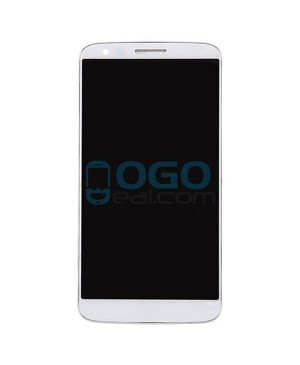 LCD & Digitizer Touch Screen Assembly With Frame for lg G2 VS980 - White