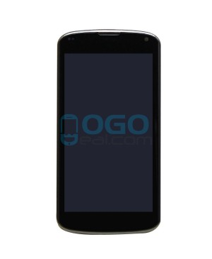 LCD & Digitizer Touch Screen Assembly With Frame replacement for Google Nexus 4 E960 - Black