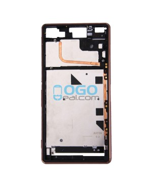 Front Housing Replacement for Sony Xperia Z3 - Brown