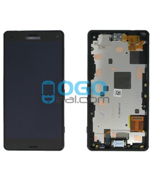 For Sony Xperia Z3 Compact/Z3 Mini LCD & Touch Screen Assembly With Frame Replacement- Black