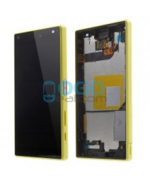 For Sony Xperia Z5 Compact/Mini LCD & Touch Screen Assembly With Frame Replacement- Black/Yellow