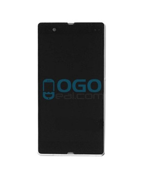 For Sony Xperia Z L36H LCD & Touch Screen Assembly With Frame Replacement- Black/White