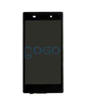 For Sony Xperia Z1 L39H LCD & Touch Screen Assembly With Frame Replacement- Black