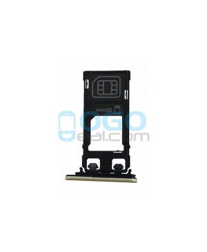 SIM/Micro SD Card Tray Replacement for Sony Xperia X Performance - Green