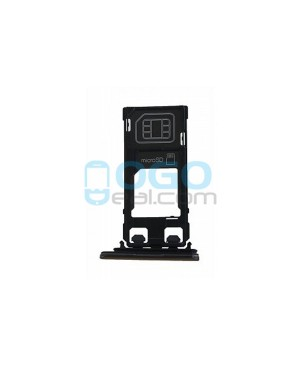 SIM/Micro SD Card Tray Replacement for Sony Xperia X Performance - Black