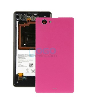 Battery Door/Back Cover Replacement for Sony Xperia Z1 Compact/Z1 Mini Pink