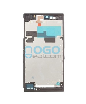 Front Housing Bezel Replacement for Sony Xperia Z Ultra XL39H - Black