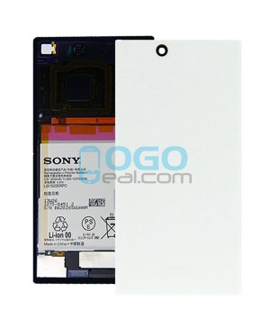 Battery Door/Back Cover Replacement for Sony Xperia Z Ultra XL39H White