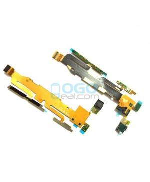 Power On Off Volume Side Key Button Flex Cable Replacement Sony Xperia Z1S L39T