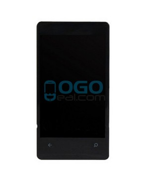 LCD & Digitizer Touch Screen Assembly With Frame replacement for Nokia Lumia 800 - Black