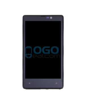 LCD & Digitizer Touch Screen Assembly With Frame replacement for Nokia Lumia 820 - Black