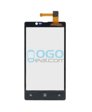 Digitizer Touch Glass Panel Replacement for Nokia Lumia 820 Black