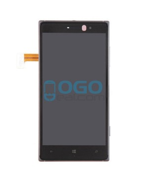 LCD & Digitizer Touch Screen Assembly With Frame replacement for Nokia Lumia 830 - Black