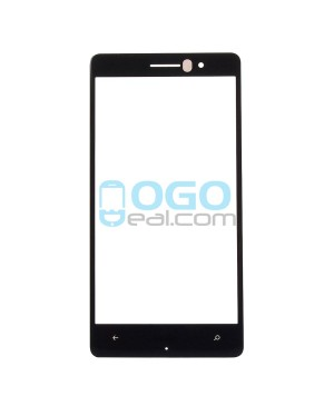 Front Outer Screen Glass Lens Replacement for Nokia Lumia 830 - Black
