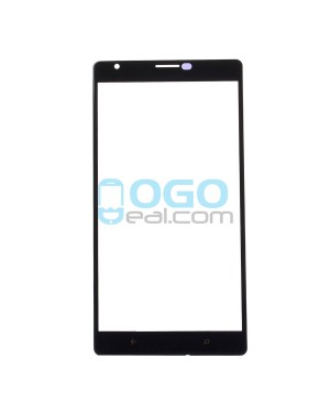 Front Outer Screen Glass Lens Replacement for Nokia Lumia 1520 - Black