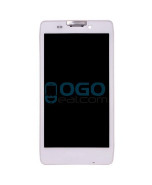 LCD & Digitizer Touch Screen Assembly With Frame replacement for Motorola Droid Razr HD XT926 XT925 - White