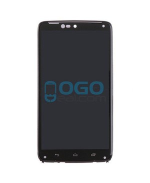 LCD & Digitizer Touch Screen Assembly With Frame replacement for Motorola Droid Turbo XT1254 - Black