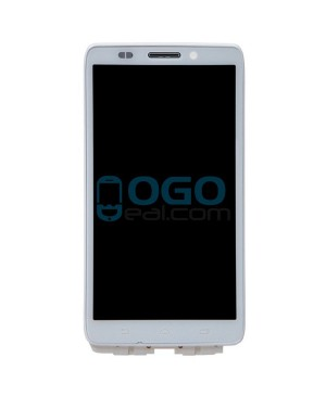 LCD & Digitizer Touch Screen Assembly With Frame replacement for Motorola Droid Ultra XT1080 - White