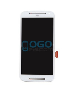 LCD & Digitizer Touch Screen Assembly With Frame replacement for Motorola Moto G (2nd Gen) - White
