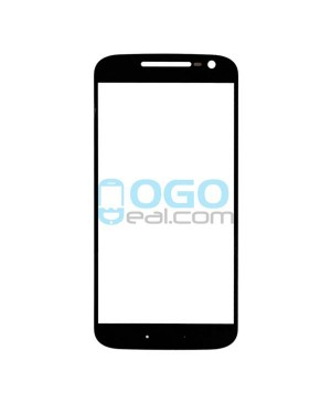 Front Outer Screen Glass Lens Replacement for Motorola Moto G4 - Black