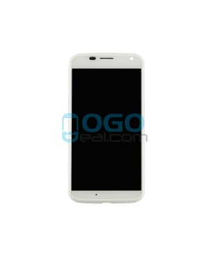 LCD & Digitizer Touch Screen Assembly With Frame replacement for Motorola Moto X - White