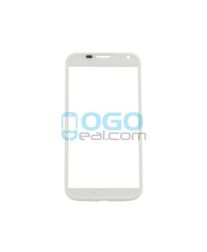 Front Outer Screen Glass Lens Replacement for Motorola Moto X - White