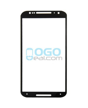 Front Outer Screen Glass Lens Replacement for Motorola Moto X (2nd Gen) - Black