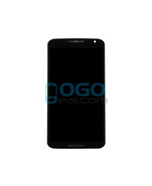 LCD & Digitizer Touch Screen Assembly With Frame replacement for Motorola Google Nexus 6 - Black