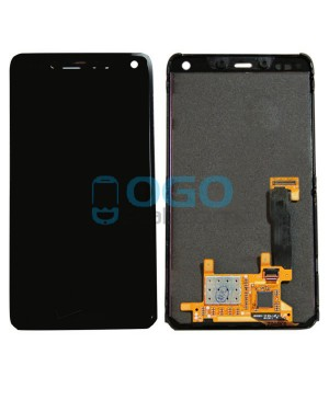 LCD & Digitizer Touch Screen Assembly With Frame V logo Replacement for Motorola Droid Razr M XT907 - Black