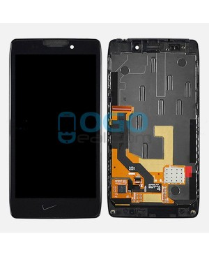 LCD & Digitizer Touch Screen Assembly With Frame V Logo Replacement for Motorola Droid RAZR HD XT926 XT925 - Black