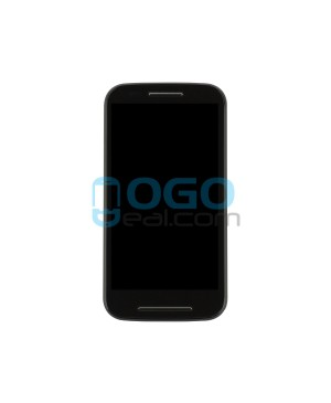 LCD & Digitizer Touch Screen Assembly With Frame Replacement for Motorola E - Black