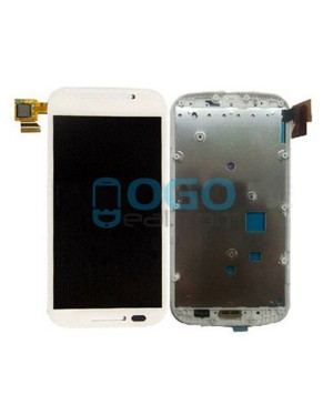 LCD & Digitizer Touch Screen Assembly With Frame Replacement for Motorola E - White