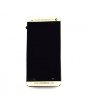 LCD & Digitizer Touch Screen Assembly With Frame replacement for HTC One M7 - Gold