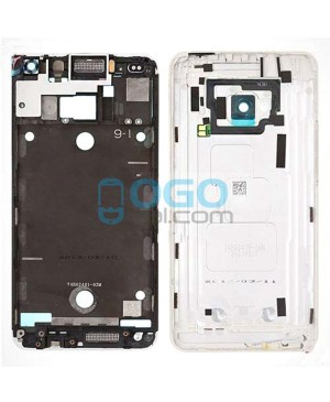 Front Housing Bezel Replacement for HTC One M7 - White