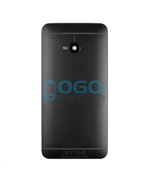 Battery Door/Back Cover Replacement for HTC One M7 - Black
