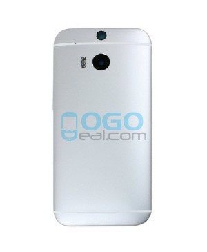 OEM Battery Door/Back Cover Replacement for HTC One M8 - Silver
