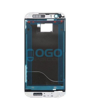 Front Housing Bezel Replacement for HTC One M8 - White