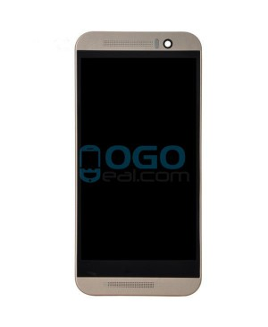 LCD & Digitizer Touch Screen Assembly With Frame replacement for HTC One M9 - Gold