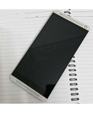 LCD & Digitizer Touch Screen Assembly With Frame replacement for HTC One Max - Silver
