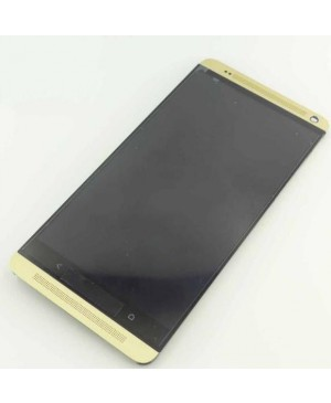 LCD & Digitizer Touch Screen Assembly With Frame replacement for HTC One Max - Gold