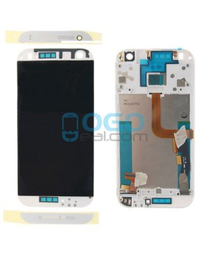 LCD & Digitizer Touch Screen Assembly With Frame replacement for HTC One Mini 2 - Silver