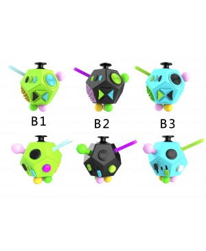 Factory Wholesale 12-side Magic Fidget Cube Dice Desk Toy Mixed Color B series