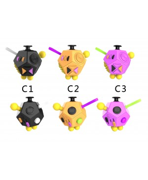 Factory Wholesale 12-side Magic Fidget Cube Dice Desk Toy Mixed Color C series