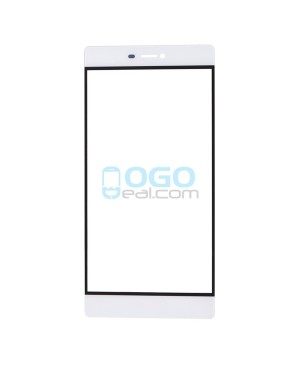 Front Outer Screen Glass Lens Replacement - for Huawei Ascend P8 - White