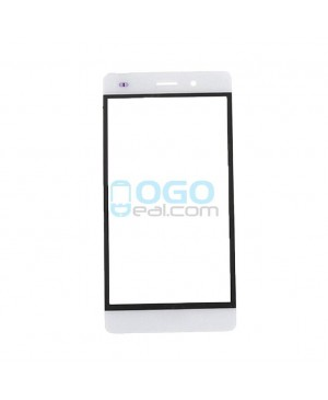 Front Outer Screen Glass Lens Replacement - White for Huawei Ascend P8 Lite - White