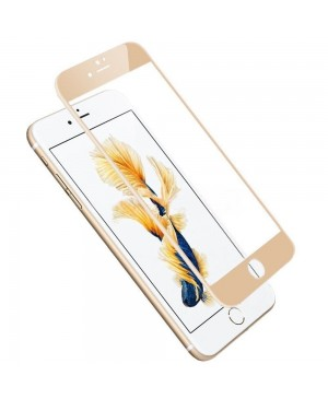 Full Cover Curved Edge Tempered glass Screen Protector For iPhone 7 Plus - Gold